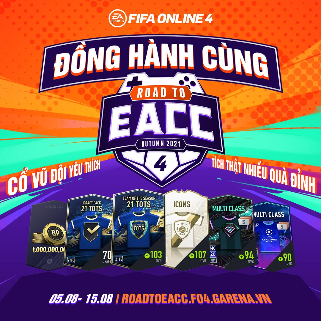Đồng hành cùng READ TO EACC: Nhận quà, đua top cực dễ dàng cùng đội tuyển yêu thích