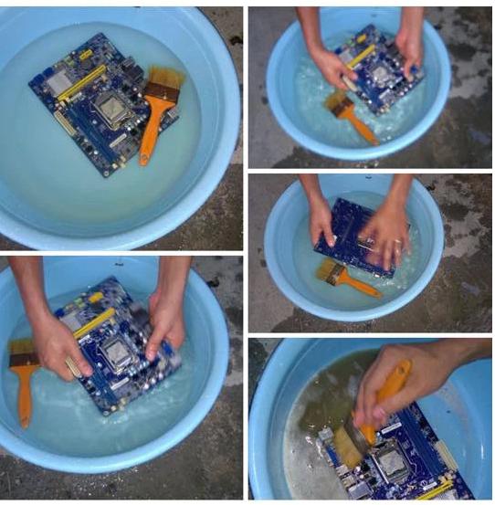 Có thể ngâm và vệ sinh máy tính bằng nước hay không?