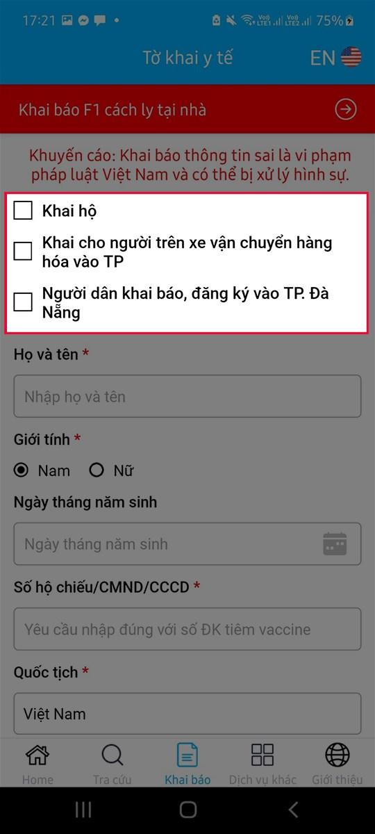 Hướng dẫn cách khai báo y tế trên app Danang Smart City đơn giản